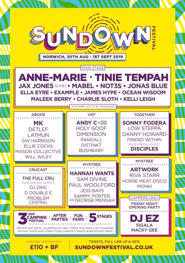 Sundown Festival 2019 Line Up