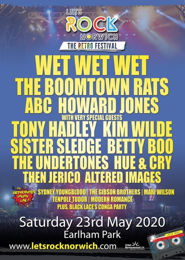 Let's Rock Norwich 2020 Line Up Poster