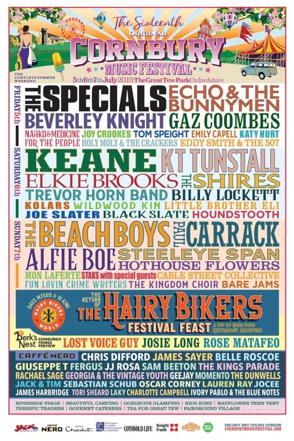 Cornbury Festival 2019 Line up Poster