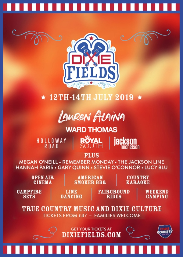 Dixie Fields 2019 line up poster