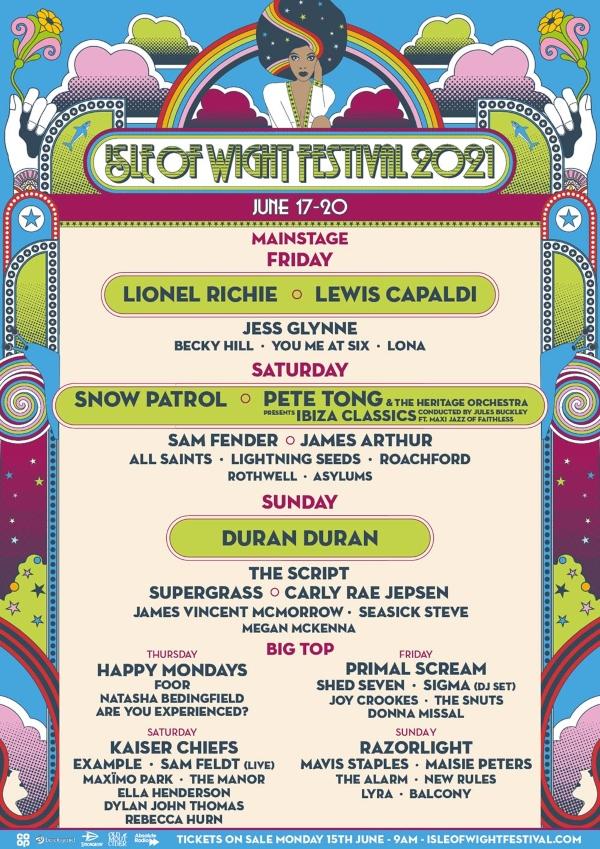 Isle of Wight Festival 2021 line up