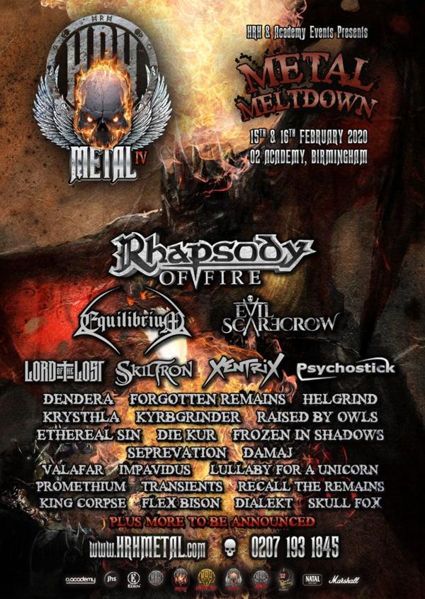 HRH Metal 2020 Line Up Poster