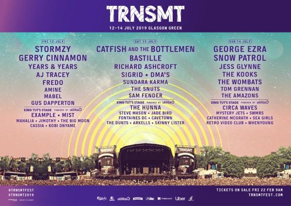 TRNSMT 2019 Line Up Poster