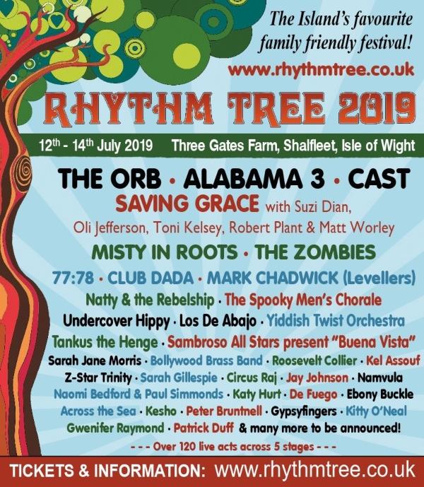 RhythmTree 2019 line up poster