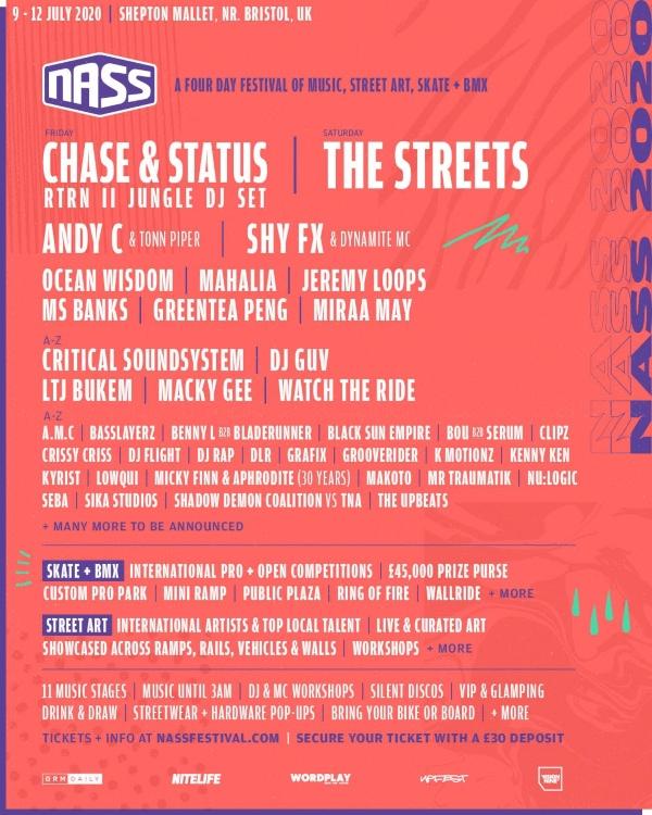 Nass 2020 line up poster