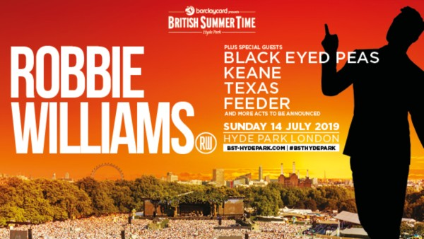 British Summer Time - Robbie Williams Day Line Up