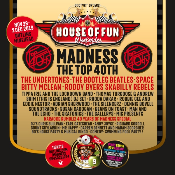House of Fun Weekender 2019 line up poster
