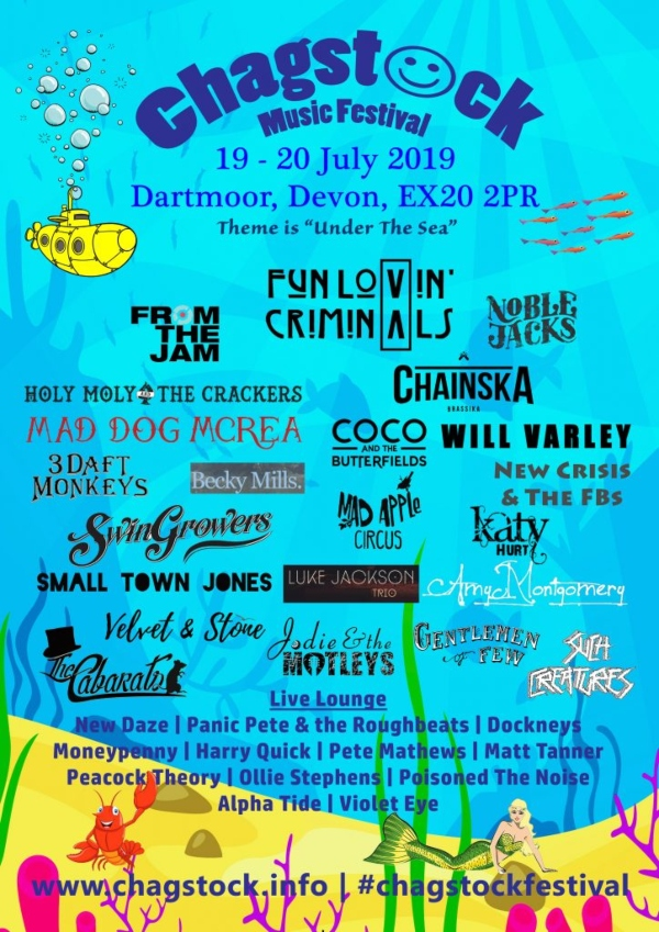 Chagstock 2019 line up poster