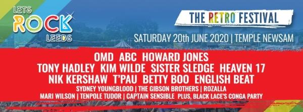 Let's Rock Leeds 2020 Line Up Poster