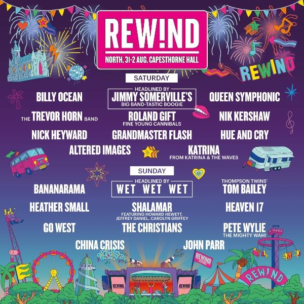 Rewind Festival North line up poster