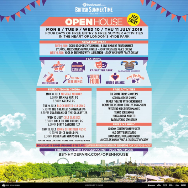 BST Open House 2019 Line Up