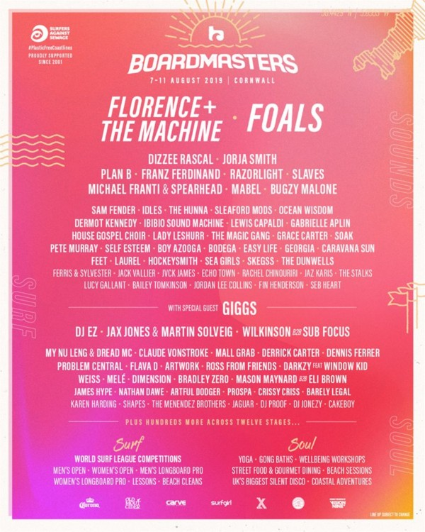 Boarmsters 2019 Line Up Oster