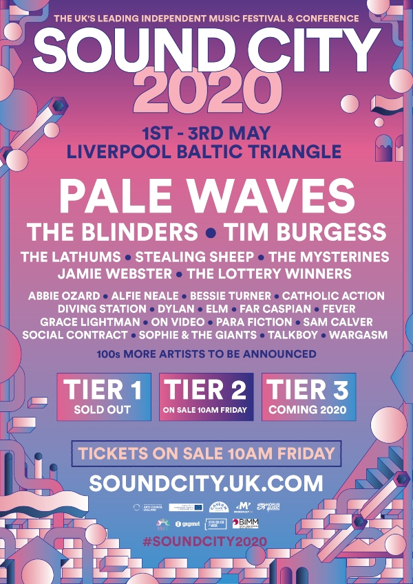 Liverpool Sound City 2020 line up poster