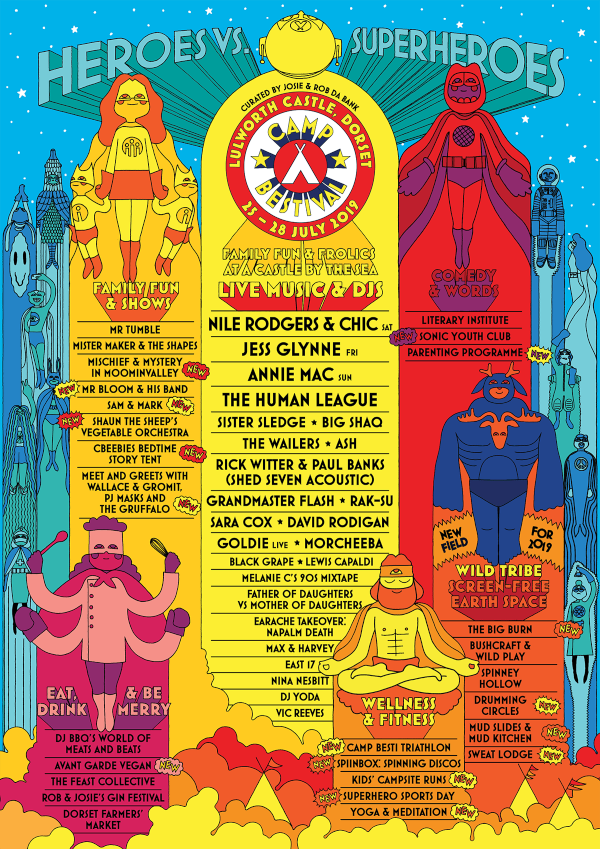 Camp Bestival 2019 Line Up Poster