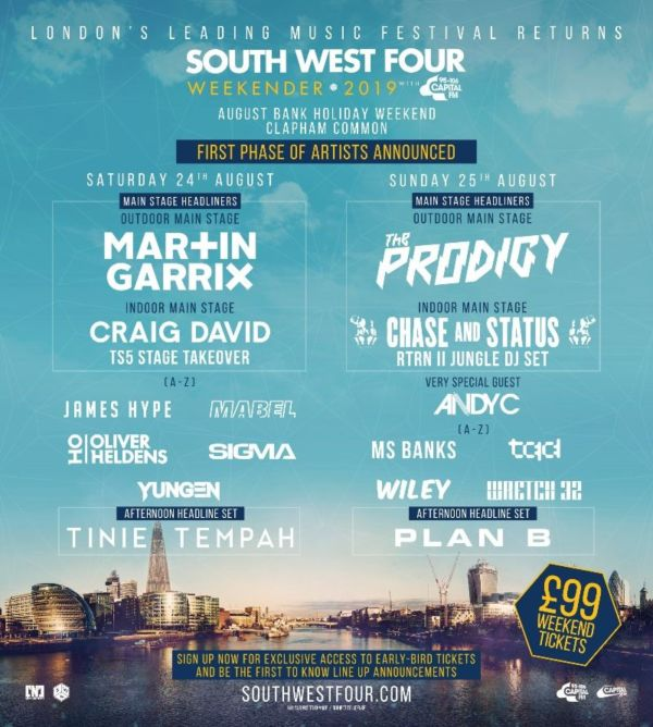 South West Four Line Up Phase 1