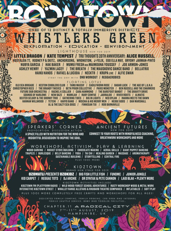 BoomTown Jazz and World Music line up Poster