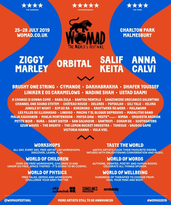 WOMAD 2019 Line Up Poster
