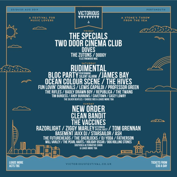 Victorious Festival 2019 Line Up Poster