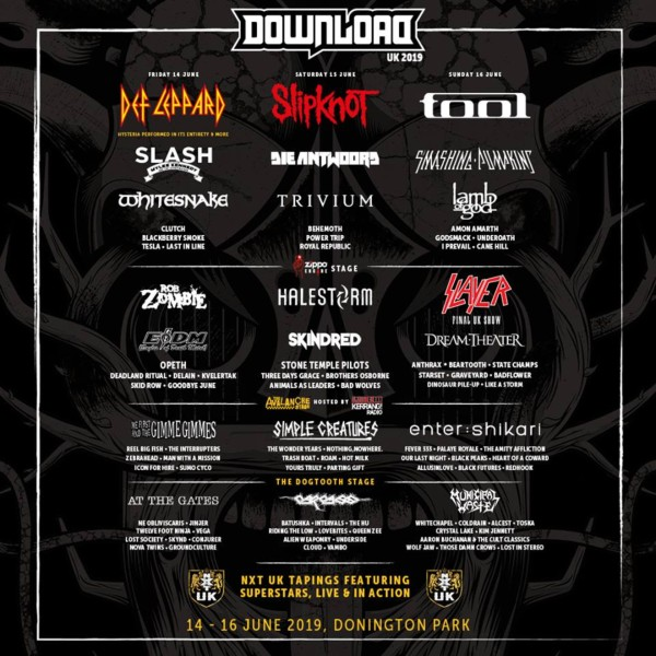 Download Festival Line Up Poster