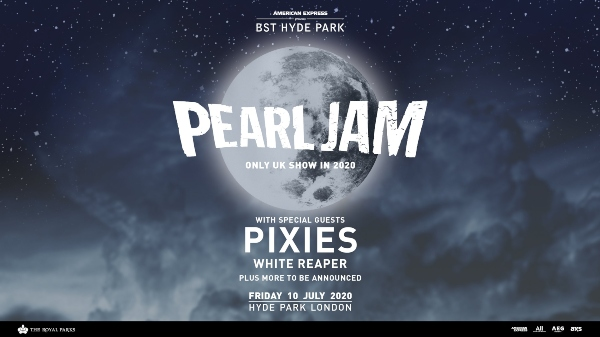 British Summer Time 2020 line up poster Pearl Jam