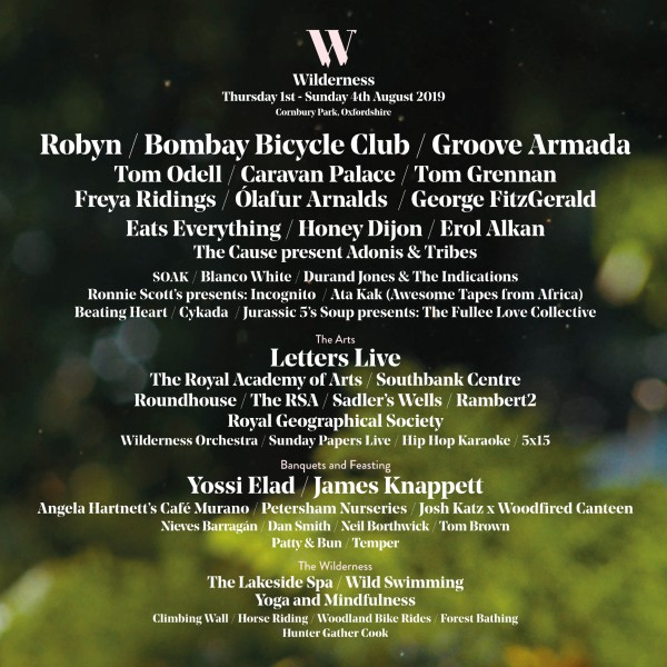 Wilderness Festival Line Up