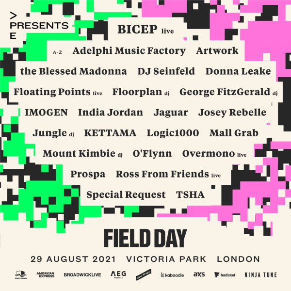 Field Day at All Points East Line up Poster