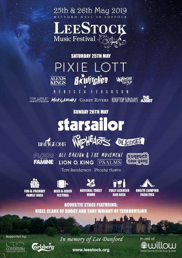 LeeStock Festival 2019 line up poster