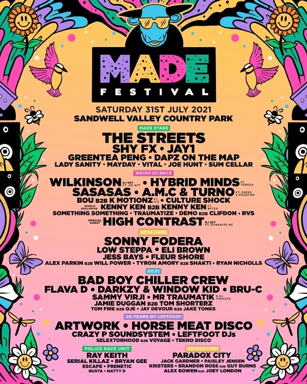 MADE Festival 2021 line up poster