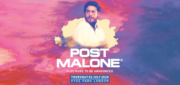 Post Malone at British Summer Time line up poster