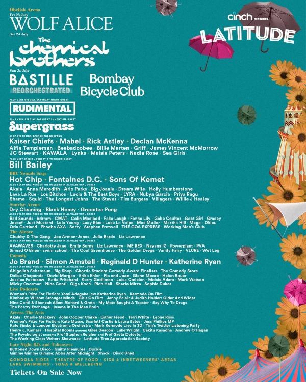 Latitude Festival 2021 line up poster