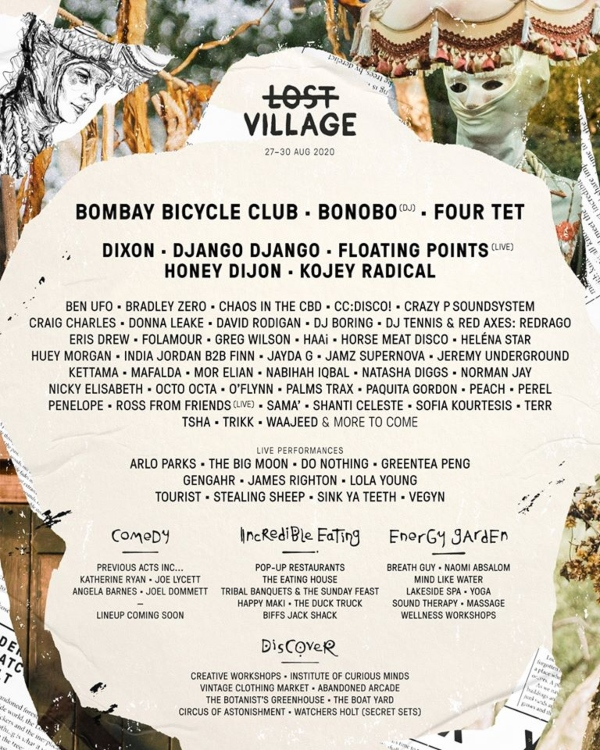 Lost Village 2020 line up poster