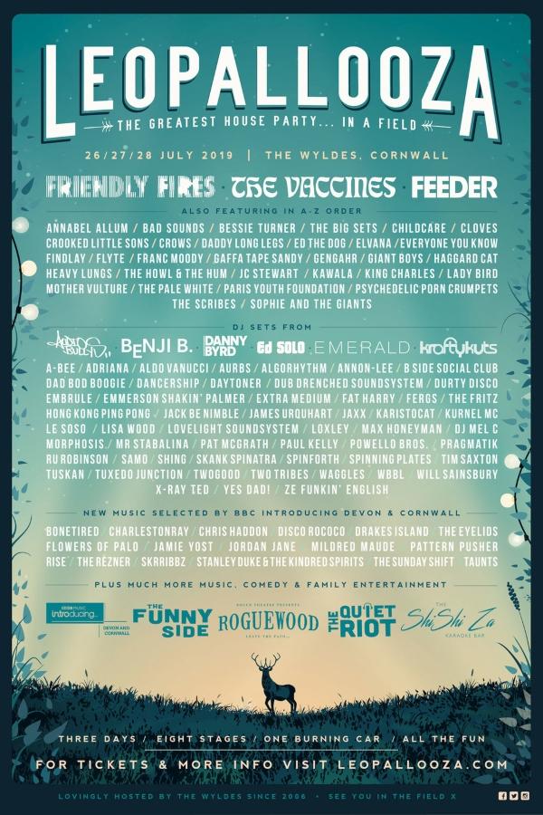 Leopallooza Festival 2019 Line Up Poster