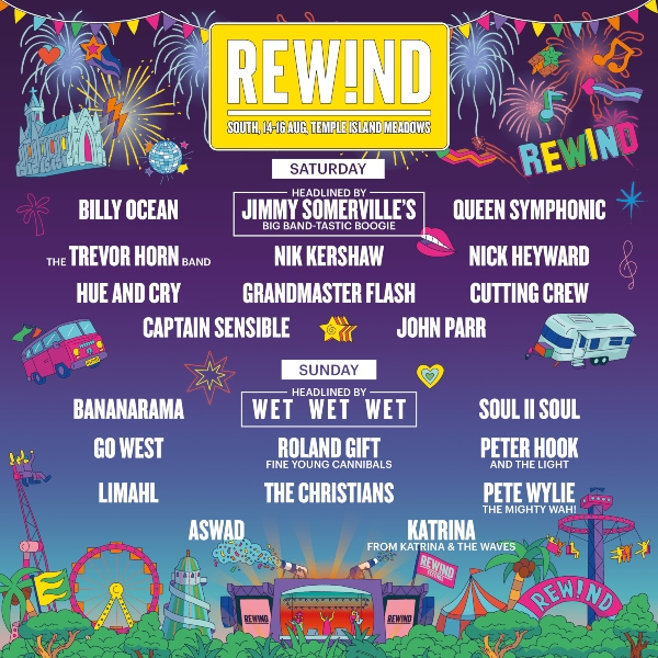 Rewind Festival South 2020 line up poster