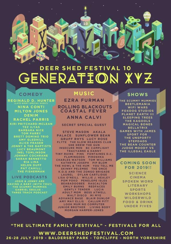 Deer Shed Festival 2019 Line Up Poster