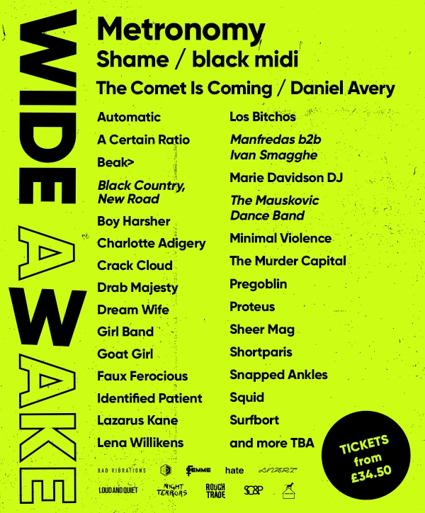 Wide Awake 2020 line up poster