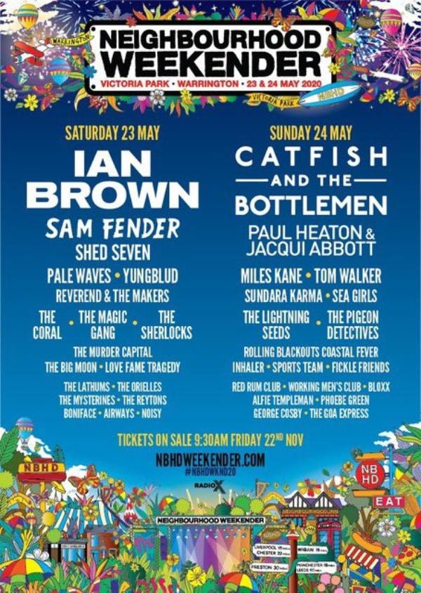 Neighbourhood Weekender 2020 line up poster
