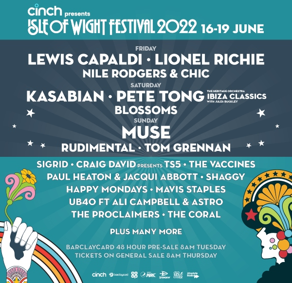 Isle of Wight Festival 2022 line up poster