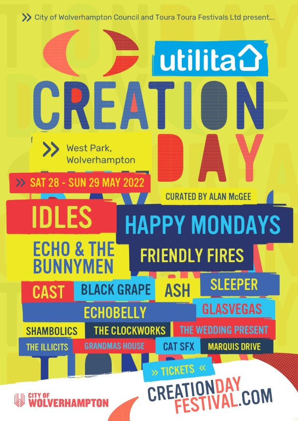 Creation Day line up poster