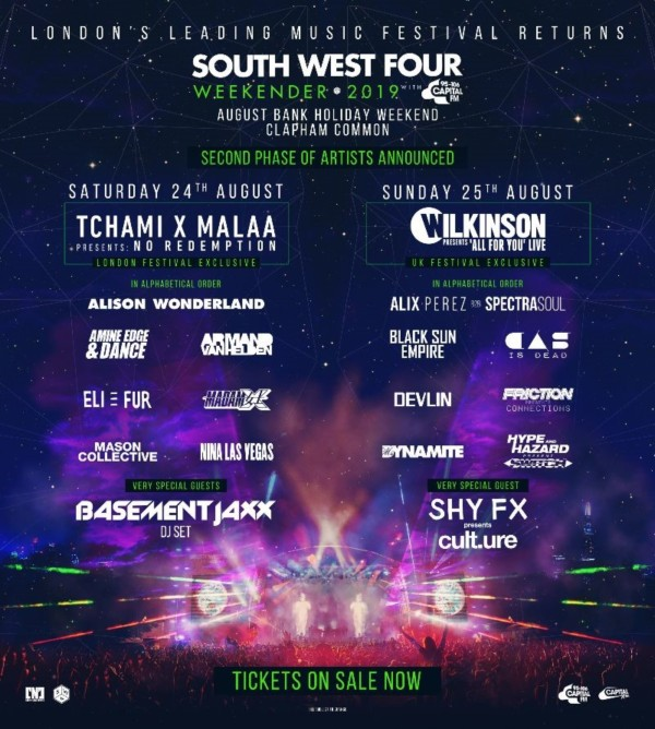 South West Four Line Up Poster Phase 2