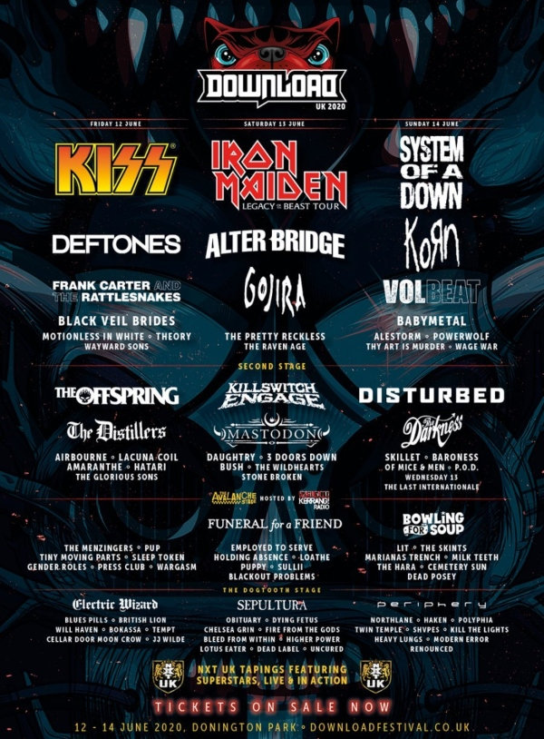 Download Festival 2020 line up