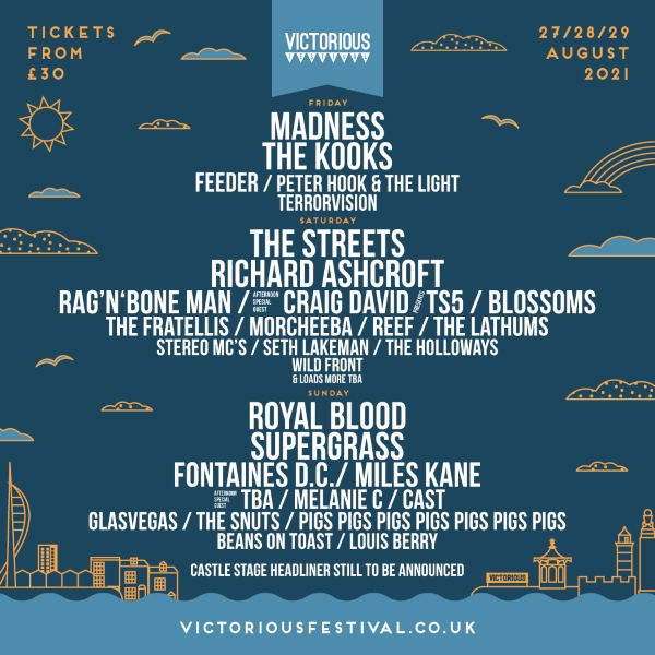 Victorious Festival 2021 Line Up Poster