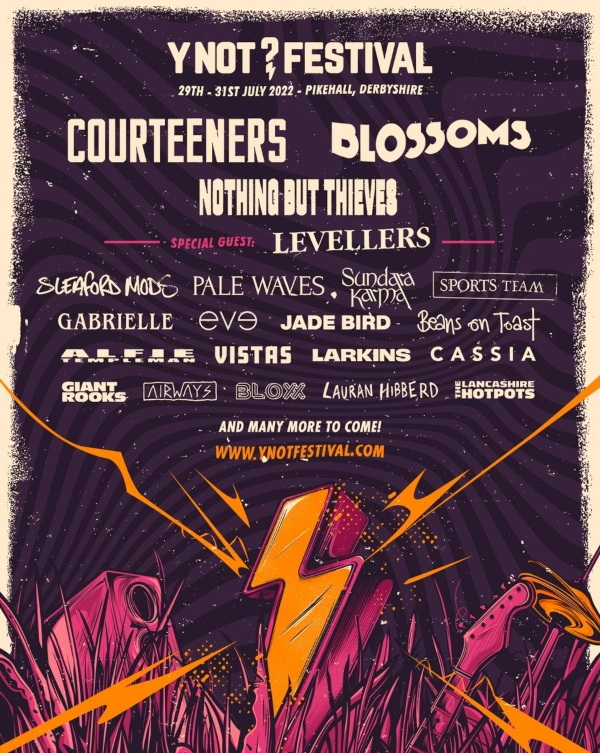Y Not Festival line up poster