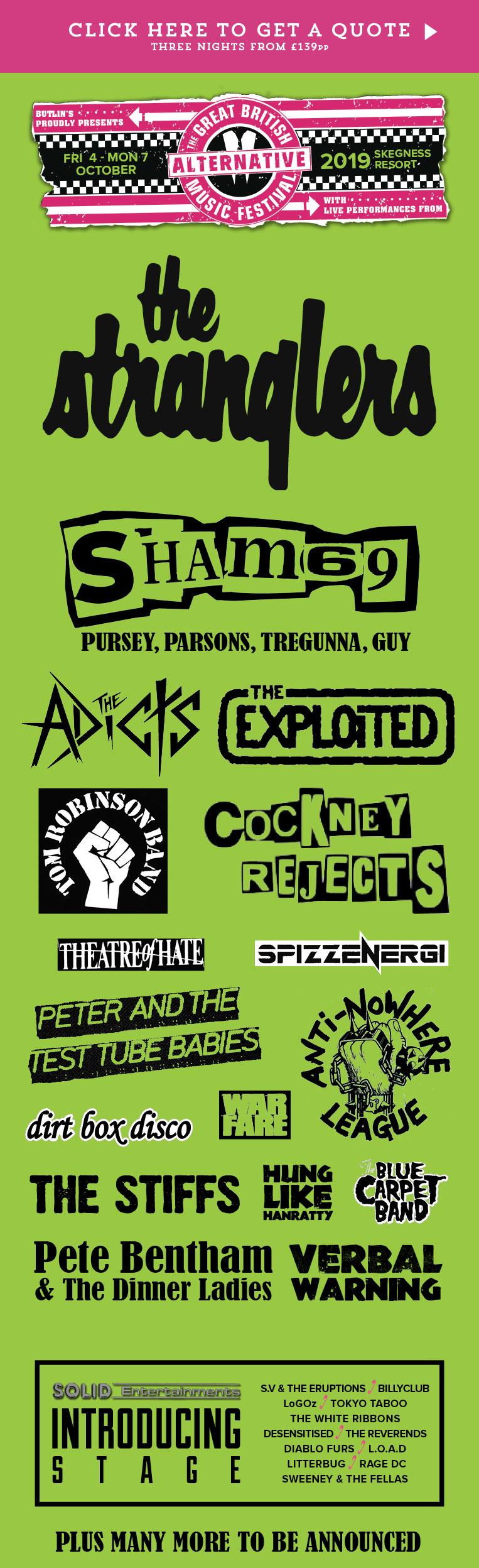 The Great British Alternative Music Festival Skegness 2019