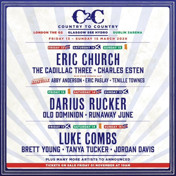C2C London 2020 line up poster
