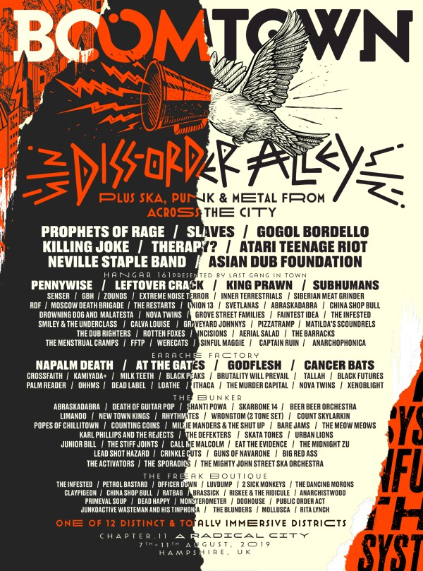 BoomTown Punk Ska and Metal line up