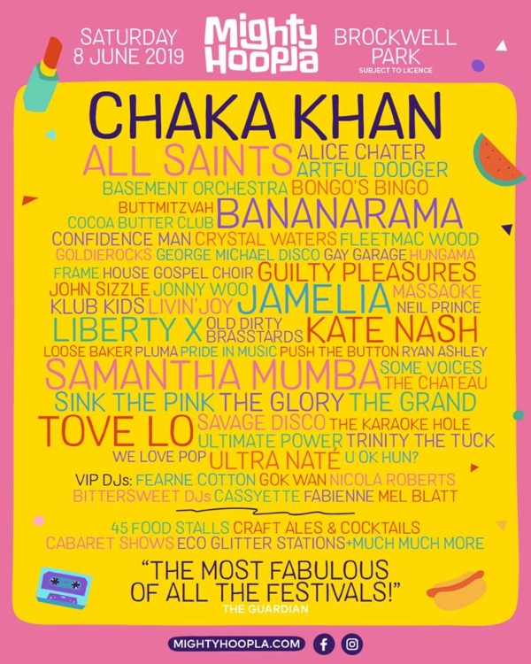 The Mighty Hoopla 2019 Line Up Poster