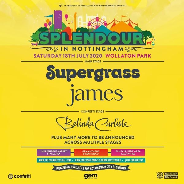 Splendour Festival 2020 line up poster