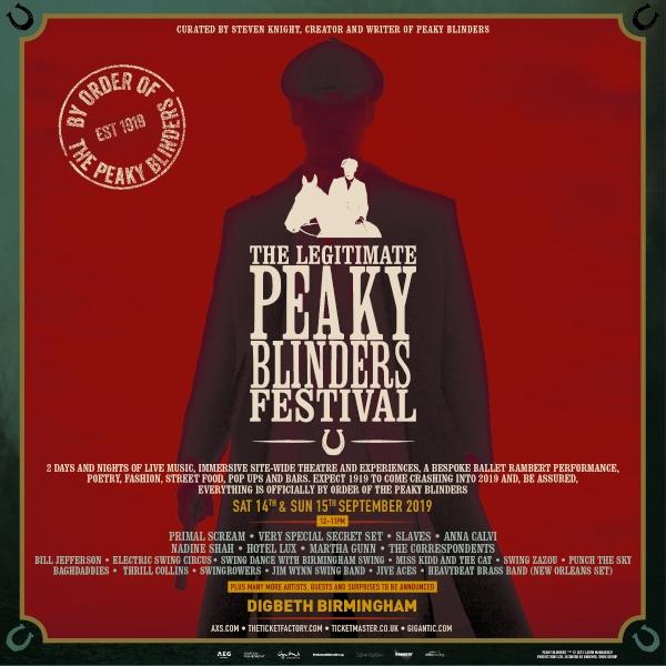 The Legitimate Peaky Blinders Festival 2019 Line Up Poster