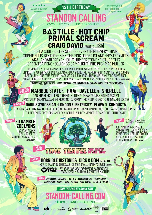 Standon Calling 2021 line up poster