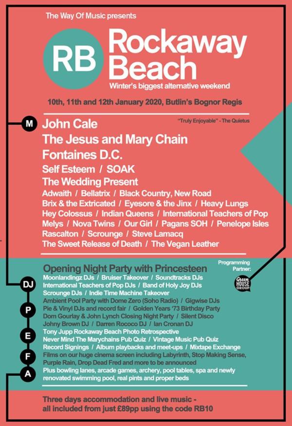 Rockaway Beach 2020 Line Up Poster